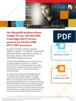 Get MongoDB database-driven insights for less with Dell EMC PowerEdge R6515 servers powered by 3rd Gen AMD EPYC 75F3 processors