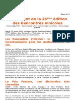 Rencontres Vinicoles Mars 2011