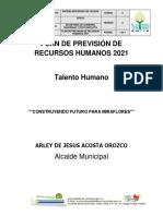 11.Plan de Prevision de Recursos Humanos Miraflores