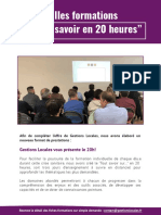 Gestions Locales - Liste Des Formations
