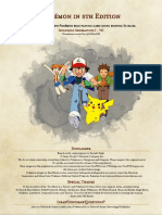Pokemon 5e PHB Gen I - VII