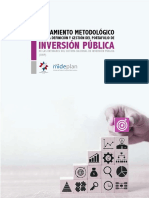 Lineamiento Metoldologico para la definicion y  gestión del portafolio de Inversión Pública de las entidades del SNIP