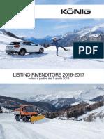 Listino Rivenditore 2016-2017