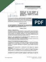 Proyecto de Ley para la expropiación de las plantas y distribuidores de oxígeno medicinal