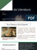 História da literatura II