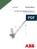 ACS 800 CraneDrive Control Firmware Manual 7.2  2006-06-20