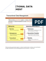 TRANSACTIONAL DATA MANAGEMENT