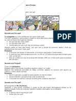 Porquês, adjetivos e substantivos revisão 2º ano