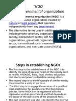 Presentation NGO