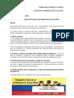 Programa Posesión Gobierno Escolar-Año 2021