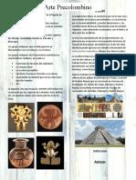 LAMINA DIDACTICA DE LAS CULTURAS PRECOLOMBINAS