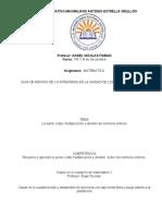GUIA  10 DE MATEMATICA  UNIDAD DE REPASO GENERAL