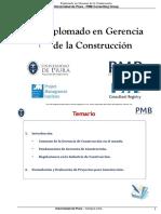 01  II Diplomado en Gerencia de la Construcción  - Sesión 1 - Pag 1 al 34