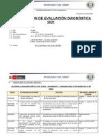 PLANIFICACIÓN DE EVALUACIÓN DIAGNÓSTICA