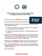 Steps on how to get tickets for the March 14 and 15, 2011 Oath-taking Ceremony (SMX) and REMINDERS for oath-takers