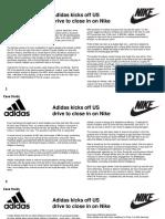 Case Study Adidas Nike