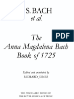 The Anna Magdalena Bach - Book of 1725 (sheet music)