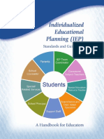 Individualized Educational Planning (Standards and Guidelines)