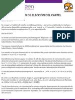 Informe  Eleccion Del Cartel