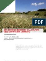 Don Lorenzo Bedeschi e la cultura dell'entroterra urbinate (locandina)