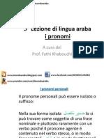 3°Lezione (Corso di arabo)