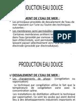 PRODUCTION EAU DOUCE