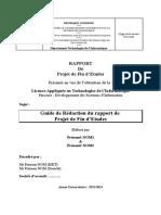 Guide Rédaction Rapport PFE