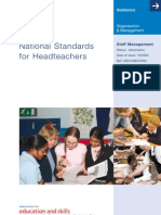 national standards for headteachers