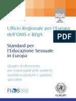 Standard per l'Educazione Sessuale in Europa