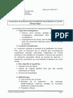 Protocole standard soumission    Ethique