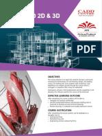 AutoCAD 2D-3D Course Flyer