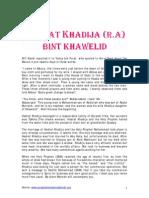 Hadrat Khadija (R.A)