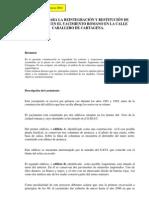 Mendiola, E. Reintegración y restitución de elementos en el yacimiento c. Caballero Cartagena. 2002