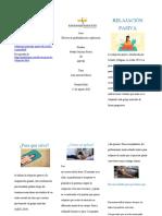 folleto de relajacion pasiva