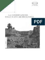 Stanley, N. (traducción). La conservazione sullo scavo archeologico. 1986