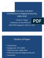 Thayer The Five Power Defence Arrangements Exercises and Their Contribution to Regional Security, 2004-2011