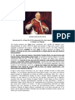 QUEMADMODUM DEUS. São José, Patrono da Igreja - Pio IX