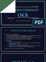 Modern Company OKR by Slidesgo