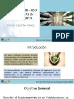 Copia de FOTOBIOREACTOR - Uso de Algas en Biotratamiento - Nilson Cantillo