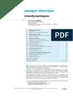J1028 Thermodynamique chimique - أ‰quilibres thermodynamique