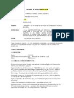 Informe Nº 001 Informe de Revision de Expediente