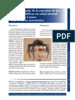 Sobre el estado de la cuestión de las políticas públicas en salud mental en América Latina