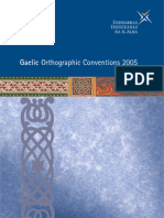 Gaelic Orthographic Conventions 2005