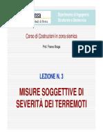 LCZS-03 - Misure Soggettive Di Severità Dei Terremoti