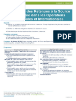 Le régime des retenues à la source en Tunisie dans les opérations nationales et internationales
