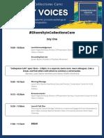 'Diversity in Collections Care' Colloquium Agenda