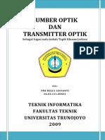 Sumber Optik dan Transmitter Optik