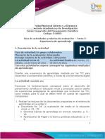 Guía de actividades y rúbrica de evaluación - Tarea 3 - Experiencia de aprendizaje (1)