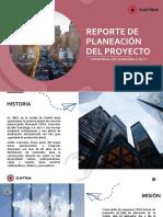 Reporte de Planeación del proyecto