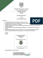 Evaluación 1 Geografía e Historia 1er Año